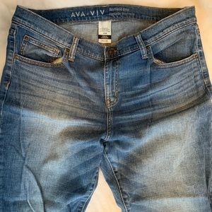 AVA & VIV Boyfriend crop-cuff ankle 14W